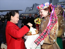 Chủ tịch Quốc hội Nguyễn Thị Kim Ngân bắt đầu thăm chính thức Cộng hòa Belarus
