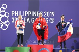 Ban tổ chức quên kéo cờ Việt Nam tại lễ trao huy chương cử tạ