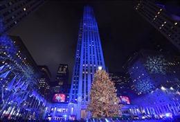 New York thắp sáng cây thông Noel khổng lồ