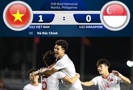 Thắng nghẹt thở U22 Singapore, U22 Việt Nam vững ngôi đầu bảng