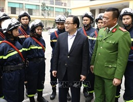 Lãnh đạo thành phố Hà Nội thăm, chúc Tết đơn vị công an, quân đội và các giáo xứ