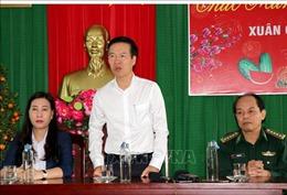 Trưởng ban Tuyên giáo Trung ương thăm, chúc Tết Đồn Biên phòng Đức Minh