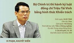 Bộ Chính trị thi hành kỷ luật đồng chí Triệu Tài Vinh