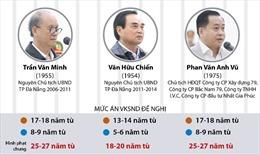 Đề nghị mức án đối với hai nguyên lãnh đạo TP Đà Nẵng và Phan Văn Anh Vũ