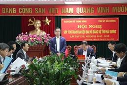 Góp ý dự thảo văn kiện Đại hội Đảng bộ tỉnh Hải Dương lần thứ XVII