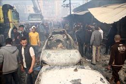 Cháy nổ tại trại tị nạn ở Dải Gaza, hàng chục người thương vong