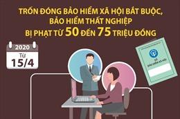 Trốn đóng BHXH bắt buộc, bảo hiểm thất nghiệp bị phạt từ 50 - 75 triệu đồng