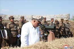 Nhà lãnh đạo Triều Tiên thị sát cuộc diễn tập súng cối