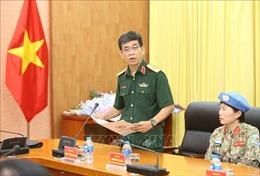 Trao tiền ủng hộ chống dịch COVID-19 cho lượng gìn giữ hòa bình Việt Nam tại Nam Sudan và Cộng hòa Trung Phi