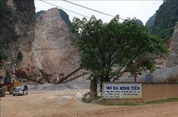 Tai nạn lao động khi khai thác đá làm một người tử vong