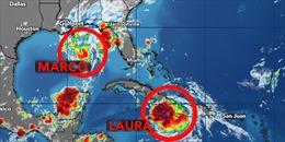 Cảnh báo bão đôi 'tấn công'nước Mỹ