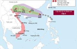 Đường đi của cơn bão số 4 trên Biển Đông
