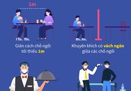 Quán ăn, nhà hàng Hà Nội thực hiện giãn cách từ 0h ngày 19/8/2020