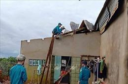 Lốc xoáy khiến gần 40 căn nhà bị tốc mái, hàng tấn sầu riêng bị rụng quả