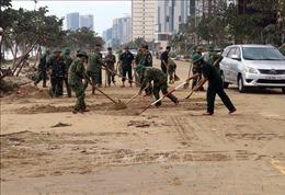 Bộ Quốc phòng tăng cường lực lượng, phương tiện giúp các địa phương khắc phục hậu quả bão số 9