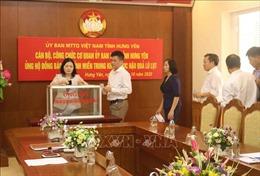 Dừng các hoạt động chào mừng Đại hội Đảng bộ tỉnh Hưng Yên, dành kinh phí ủng hộ đồng bào miền Trung