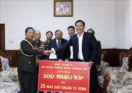 Bộ Quốc phòng Việt Nam hỗ trợ Lào phòng chống đại dịch COVID-19