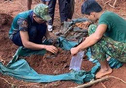 Cất bốc 24 hài cốt liệt sỹ tại huyện Lộc Ninh, Bình Phước