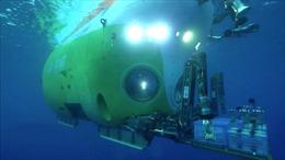 Phát cảnh quay trực tiếp tại đáy sâu nhất của đại dương từ tàu ngầm Fendouzhe