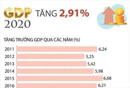 GDP năm 2020 tăng 2,91%