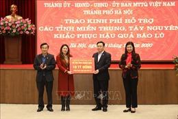 Hà Nội hỗ trợ đồng bào miền Trung, Tây Nguyên 91 tỷ đồng