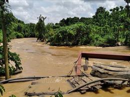 Nước sông dâng cao đột ngột tại Đắk Nông gây thiệt hại nặng cho người dân