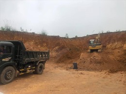 Nhức nhối tình trạng đào đồi, lấp ruộng trái phép tại Phú Thọ