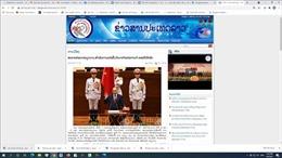 Báo chí Lào đánh giá việc Quốc hội Việt Nam kiện toàn các chức danh lãnh đạo bộ máy nhà nước