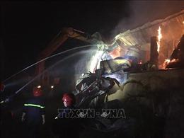 Cháy lớn tại Khu công nghiệp Phú Bài