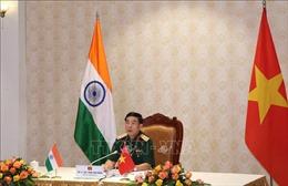 Điện đàm trực tuyến Bộ trưởng Bộ Quốc phòng Việt Nam - Ấn Độ