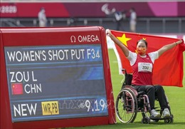 Paralympic Tokyo 2020 ngày 31/8: Đoàn thể thao Trung Quốc bứt xa