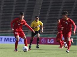 AFF U22 LG Cup 2019: U22 Việt Nam lội ngược dòng thắng chật vật Philippines 2 - 1