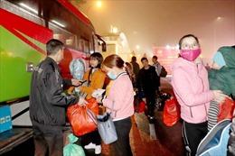 Hà Nội miễn phí đưa công nhân hoàn cảnh khó khăn về quê đón Tết
