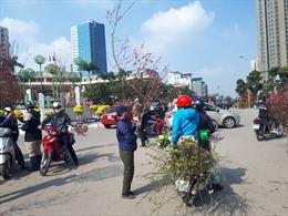 Mua nhanh, bán vội sáng 30 tháng Chạp tại chợ hoa Tết lớn nhất Hà Nội