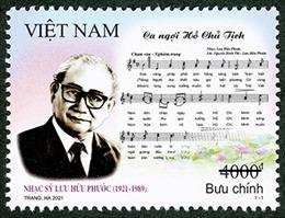 Giới thiệu bộ tem 'Kỷ niệm 100 năm sinh nhạc sỹ Lưu Hữu Phước'