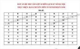 Đề thi và đáp án môn Lịch sử kỳ tuyển sinh vào lớp 10 THPT tại Hà Nội