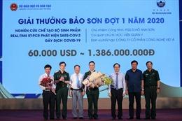 Bộ sinh phẩm phát hiện SARS-CoV-2 được vinh danh giải thưởng Bảo Sơn năm thứ 9