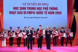100% học sinh dự thi Olympic khu vực và quốc tế năm 2020 đều đoạt giải