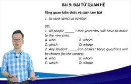 Cách làm bài 'đại từ quan hệ'trong đề thi Tiếng Anh vào lớp 10
