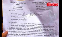 Gợi ý đáp án đề Toán thi vào lớp 10 THPT tại Hà Nội