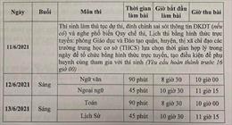 Hà Nội điều chỉnh lịch và thời gian làm bài thi vào lớp 10