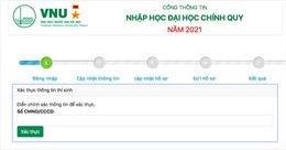 Ngày 16/9, Đại học Quốc gia Hà Nội sẽ công bố điểm chuẩn