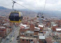 Bolivia hoàn thiện hệ thống cáp treo cao và dài nhất thế giới