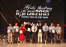 Trao Giải báo chí Thông tấn xã Việt Nam năm 2018: Báo Tin tức 'gặt hái' 4 giải ở các thể loại