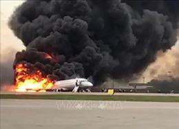 Công bố thêm các thông tin chi tiết vụ cháy máy bay tại Nga