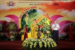 Hàng nghìn tăng ni, phật tử tham dự Đại lễ Phật đản tại Ninh Bình