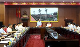 Đoàn kiểm tra của Bộ Chính trị làm việc tại tỉnh Thái Bình