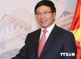 Phó Thủ tướng, Bộ trưởng Ngoại giao Phạm Bình Minh tiếp Chủ tịch Nhóm Đại sứ các nước về hợp tác phát triển