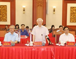 Hội nghị lấy ý kiến nguyên lãnh đạo Đảng, Nhà nước về các dự thảo Báo cáo trình Đại hội XIII của Đảng