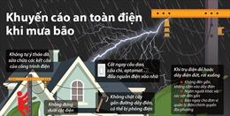 Khuyến cáo an toàn điện khi mưa bão